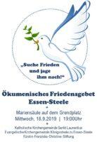 Plakat Friedensgebet 18.9.2019